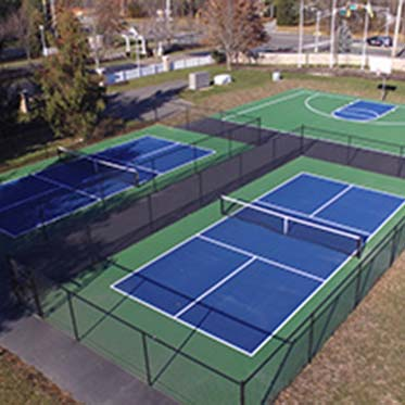 Tennis Courts Set Side by Side