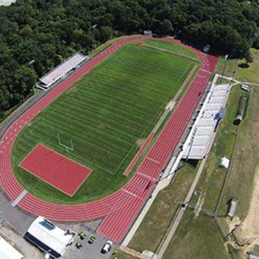 Aerial View of Newly Completed Running Track