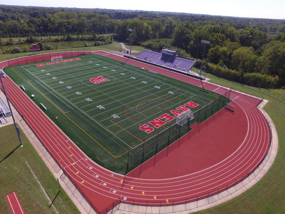 Football Field And Running Track