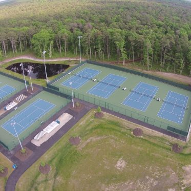 Aerial View Of Tennis Complex
