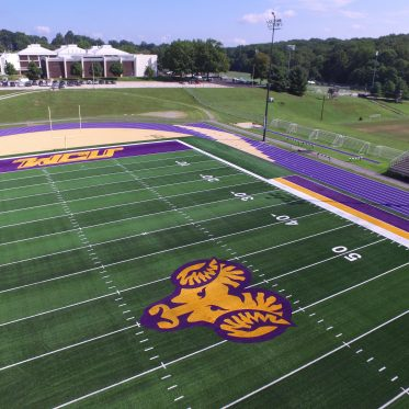 Artificial Turf College Football Field