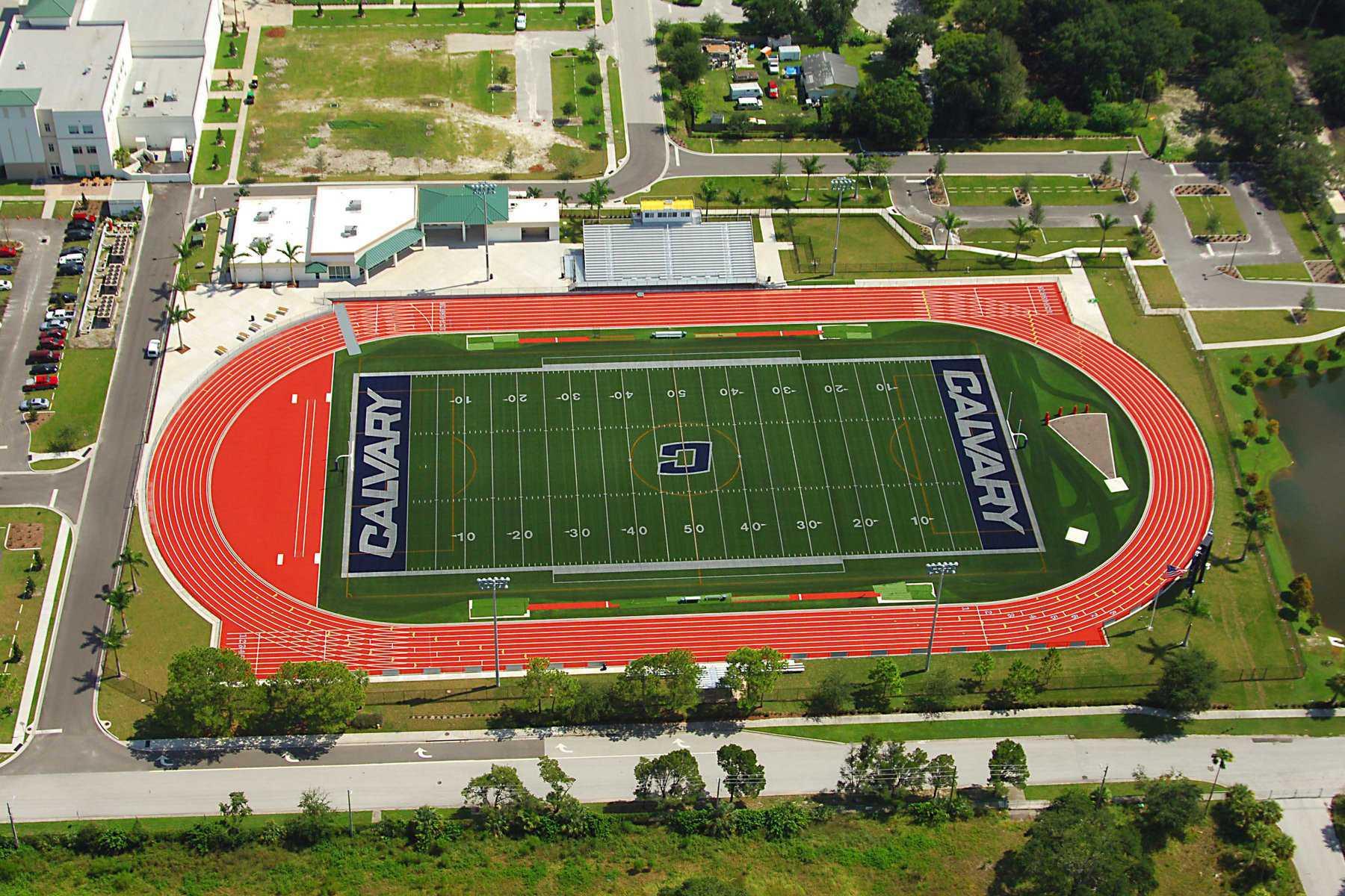 Overhead View of Calvary Football Field
