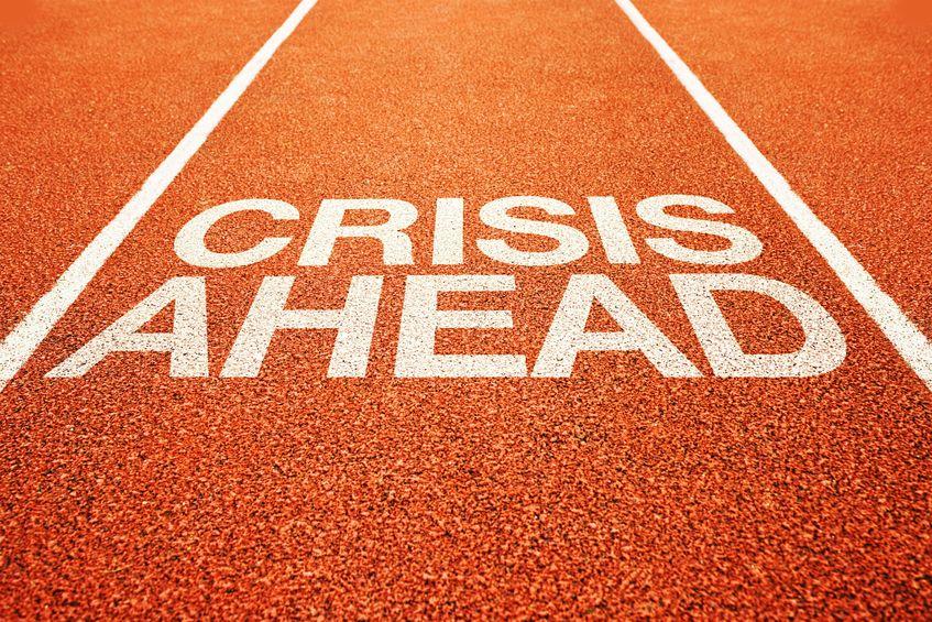 CRISIS AHEAD on Running Track