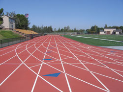 New Running Track Curving to the Left