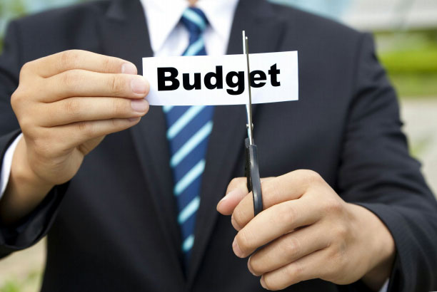 Man in Suit Cutting Budget