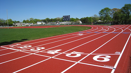 Numbered Positions on New Running Track
