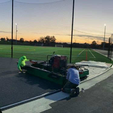 Repairing Running Track Surface