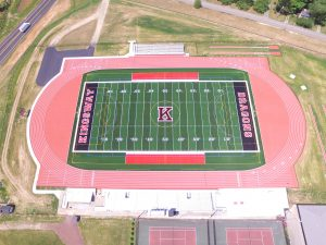 Aerial View of Kingsway High School Football Field and Running Track