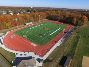 Aerial View of Moorestown High School Track and Field